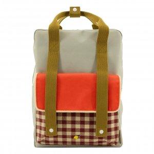 Sticky Lemon Gingham Backpack Large pool green apple red leaf green backpack