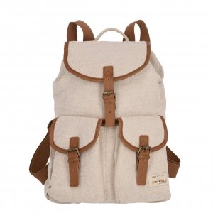 Travelite Hempline Flap Backpack beige Rugzak