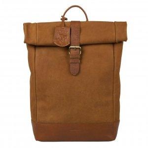 Burkely Soul Sem Backpack Rolltop 15.6'' leaf cognac backpack