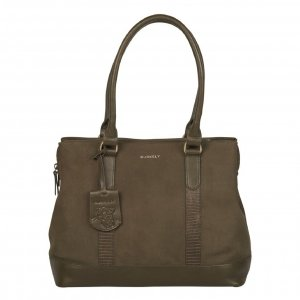 Burkely Soul Sem Handbag M 13.3'' dark olive