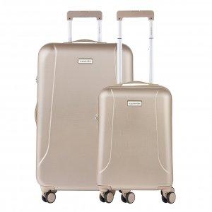 CarryOn Skyhopper 55 + 78 Set champagne Harde Koffer