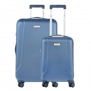 CarryOn Skyhopper 55 + 78 Set cool blue Harde Koffer