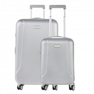 CarryOn Skyhopper 55 + 78 Set silver Harde Koffer