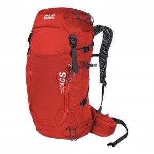 Jack Wolfskin Crosstrail 28 LT Hiking Pack fiery red backpack