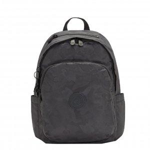 Kipling Delia Rugzak charcoal jacquard backpack