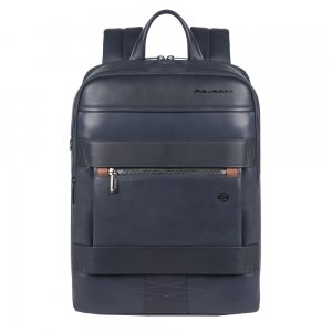 Piquadro Obidos Computer And IPad Backpack Anti-fraud Protection blue