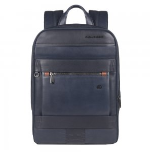 Piquadro Obidos Expandable Slim Computer Backpack With Ipad Compartment blue