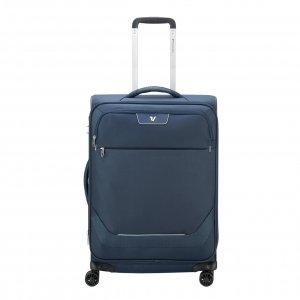 Roncato Joy Medium Trolley 63 Expandable blue Zachte koffer