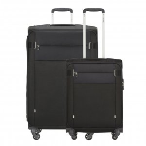 Samsonite Citybeat Spinner 55 + 78 Set black Zachte koffer