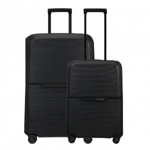 Samsonite Magnum Eco Spinner 55 + 75 Set graphite Harde Koffer