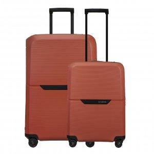 Samsonite Magnum Eco Spinner 55 + 75 Set maple orange Harde Koffer
