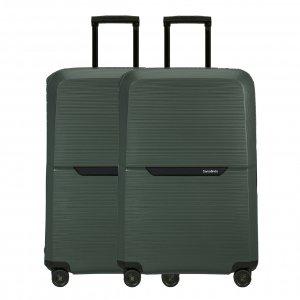 Samsonite Magnum Eco Spinner 75 Set van 2 forest green Harde Koffer