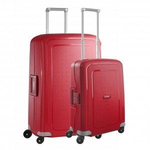 Samsonite S'Cure Spinner 55 + 75 Set crimson red Harde Koffer
