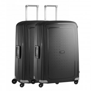Samsonite S'Cure Spinner 75 Set van 2 black Harde Koffer