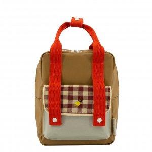 Sticky Lemon Gingham Backpack Small pool green apple red leaf green backpack