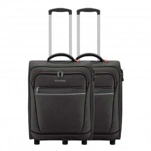 Travelite Cabin 2 Wiel Trolley Set van 2 black Zachte koffer