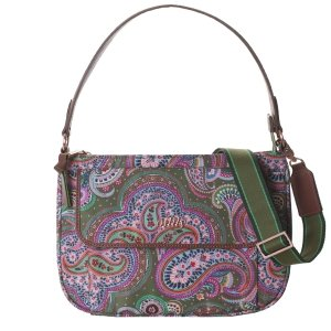 Oilily Helena Paisley M Flat Shoulder Bag cypres Damestas
