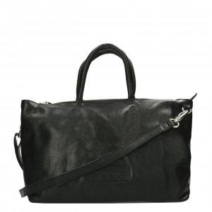 Shabbies Amsterdam Handbag heavy grain leather L black Damestas