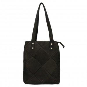 Shabbies Amsterdam Shopper nubuck patchwork L black Damestas