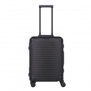 Travelite Next Aluminium 4 Wiel Trolley S black Harde Koffer
