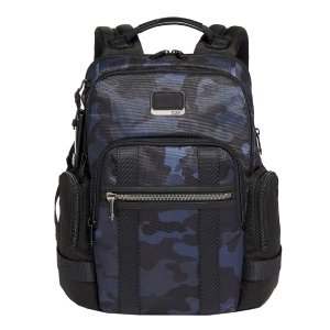 Tumi Alpha Bravo Nathan Backpack navy camouflage backpack