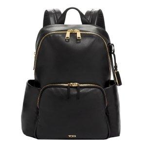 Tumi Voyageur Leather Ruby Backpack black backpack