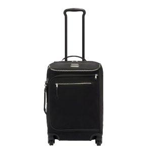 Tumi Voyageur Travel Leger International Carry-On black/silver Zachte koffer